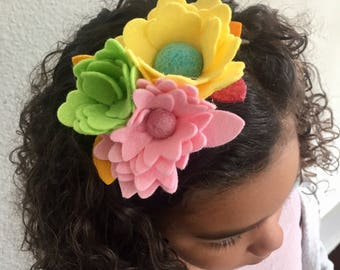 EC*** Flower elastic Headband