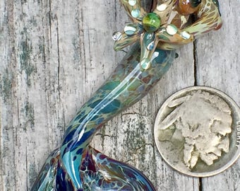 Boro Glass Mermaid bead pendent