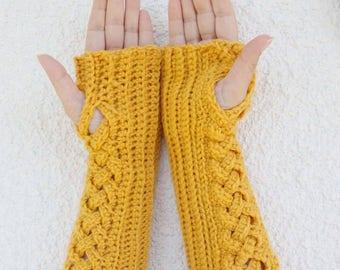 instructions for fingerless gloves
