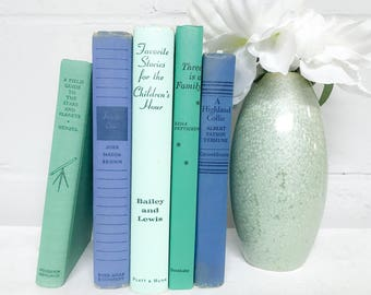 Blue and Green Decorative Book Set