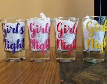 Girls Night/Weekend Shot Glasses