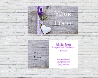 Heart Business Card, Small Business, Digital File, Lace, Customized Business Cards, Calling Cards, Printable Business Card, Lavender, Rustic
