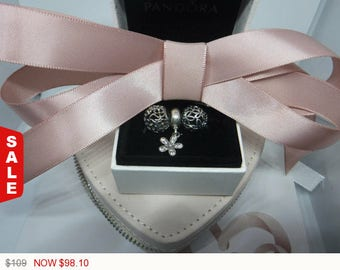 Authentic Pandora Charms Dangling Daisy Three Charm Gift Set Christmas gift