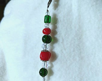 Christmas Snowman Glass Bead TeaChain