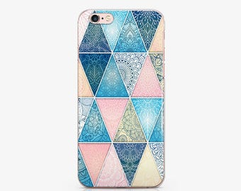 Pink Geometry Phone 7 Case Clear Phone 7 Plus Case iPhone phone 6s Phone iPhone 6s Plus iPhone Case 5c Phone iPhone SE Phone S6 Case AC1144