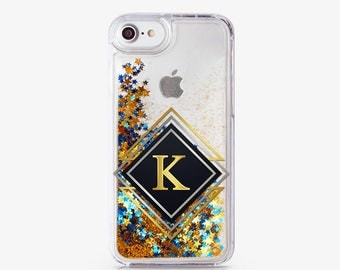 Glitter iPhone 8 Plus Case Gift Custom iPhone Case For Her iPhone Monogram Case iPhone 7 Plus Case iPhone 8 Case Personalized Case AC1610