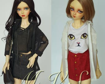BJD Clothes Over size Shirt for SD/DD,in 2 colors