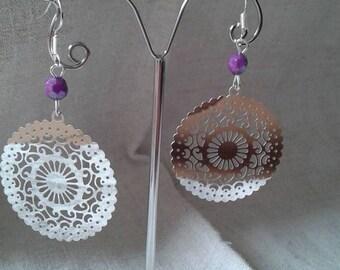 """nice round charm"" earrings"