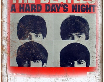 "10"" x 7"" THE BEATLES A hard days night metal sign new k01"
