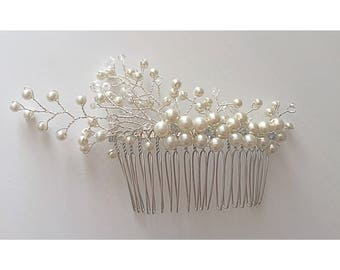 Flower hair comb, pearl hair comb, wedding hair accessories