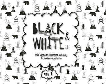 Nursery printable art Wall decor Digital paper Alphabet  Animals Scandinavian style Minimalist art Nursery decor Clipart