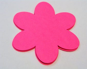 Flower Die Cuts, Summer Die Cuts, Flower Embellishments, Paper Flower, Flower Cut Outs, Scrapbooking, Party Tags, Party Decor
