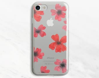 Poppies iPhone 7 Case Clear iPhone 6 Case Clear iPhone 6 Plus Case Clear iPhone 7 Plus Case Clear iPhone Case Clear