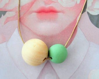 The MOON COLLECTION - Handmade Polymer Clay Necklace - Colourful Moon (MED)