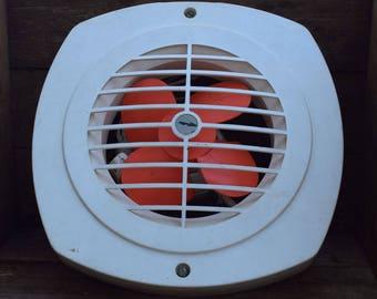Vintage electric fan, Old plastic fan, Window fan, Industrial decor, Steampunk decor, Loft decor, Works, USSR 1960s