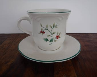 Pfaltzgraff Winterberry Cup and Saucer