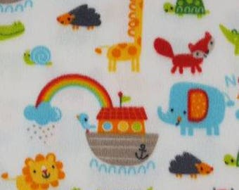 Noahs Ark Fleece Tied Blanket