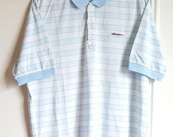 Polo / T-shirt Ellesse Vintage 80s Made in Italy size M