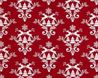 Tissu patchwork rouge NOËL WINTER ESSENTIAL STUDIO E Fabric