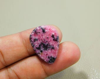 40%OFF Natural Rhodonite Cabochon Loose Gemstone 19x25 MM Approx Pear Shape 21.00 Cts For Making Jewelry