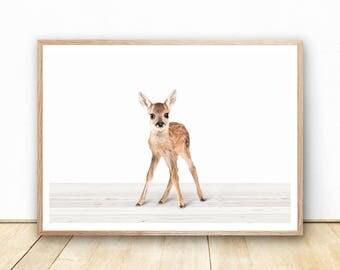 baby deer print printable nursery art instant download digital art print neutral