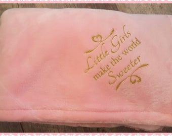 Sweet Girl Logo'd Baby Girl Blanket, Logo'd On Opposite Ends....Perfect Coming Home Blanket or Shower Gift