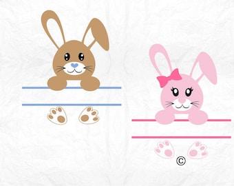 Easter svg, Easter bunny svg, Bunny svg, monogram split, Easter, SVG Files, Cricut, Cameo, Cut file, Files, Clipart, Svg, DXF, Png, Eps