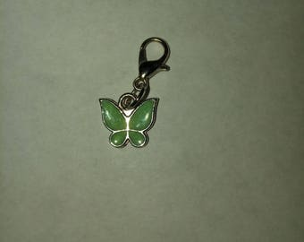 Butterfly zipper pull charm clip