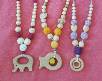 1 Babywearing nursing necklace. color/size choices. contact me by message