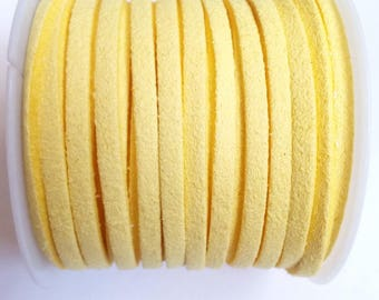 1 m yellow 3mm suede cord