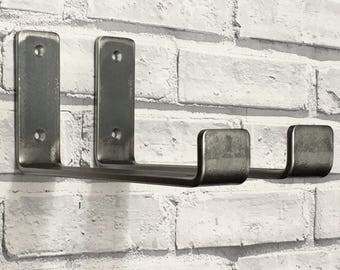 pair of scaffold board 225mm heavy duty storage shelf brackets and fixings rustic industrial style