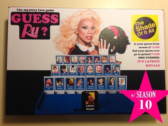 Guess Ru Game Rupaul's Drag Race Guess Who Printable