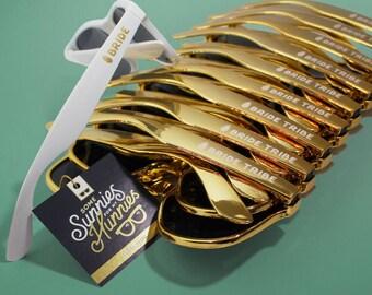 Bride Tribe Gold Sunglasses | Bachelorette Sunglasses | Destination Wedding | Pineapple | Bach Bash | Wedding Sunglasses | Beach Wedding
