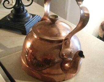 Vintage Copper Kettle Tea Pot Country Kitchen Home Decor Copper Teapot