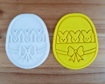 Bunny Basket Cookie Cutter and Stamp