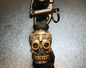 Day of the dead themed paracord bracelet