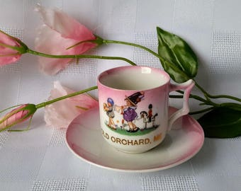 PK Unity Child Souvenir Cup and Saucer, Made in Germany