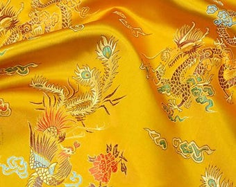 Chinese Dragon brocade jacquard fabrics