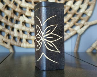 Hand Carved wood Dugout / Hitter Box / floral design