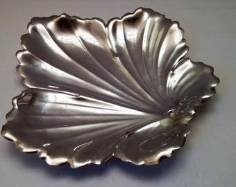 Fisher Silversmiths Leaf Dish