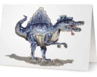 Dinosaur get well soon card