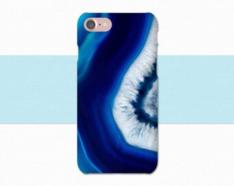 Blue Geode iPhone Case, Crystal iPhone Case, iPhone 7, iPhone 6, iPhone 6S, Blue iPhone 7 Plus Case, iPhone SE, 6 Plus, 6S Plus Blue Crystal