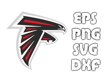 Atlanta Falcons Logo SVG - Vector Design in Svg Eps Dxf Png Format INSTANT DOWNLOAD