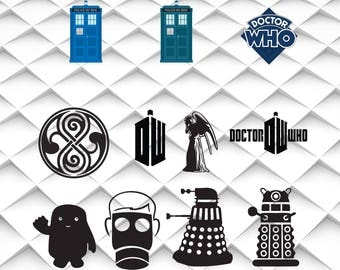 Doctor who SVG,png,jpg,eps|Doctor who clipart for Print/Silhouette Cameo/Cricut and Many More