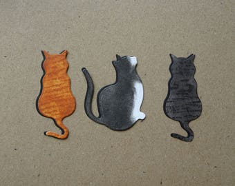 UPGRADE: Add a hand shaded coat pattern to a cat on any card design, Choose the cat colour, Siamese, Calico, Tortoiseshell, Tabby, Ginger