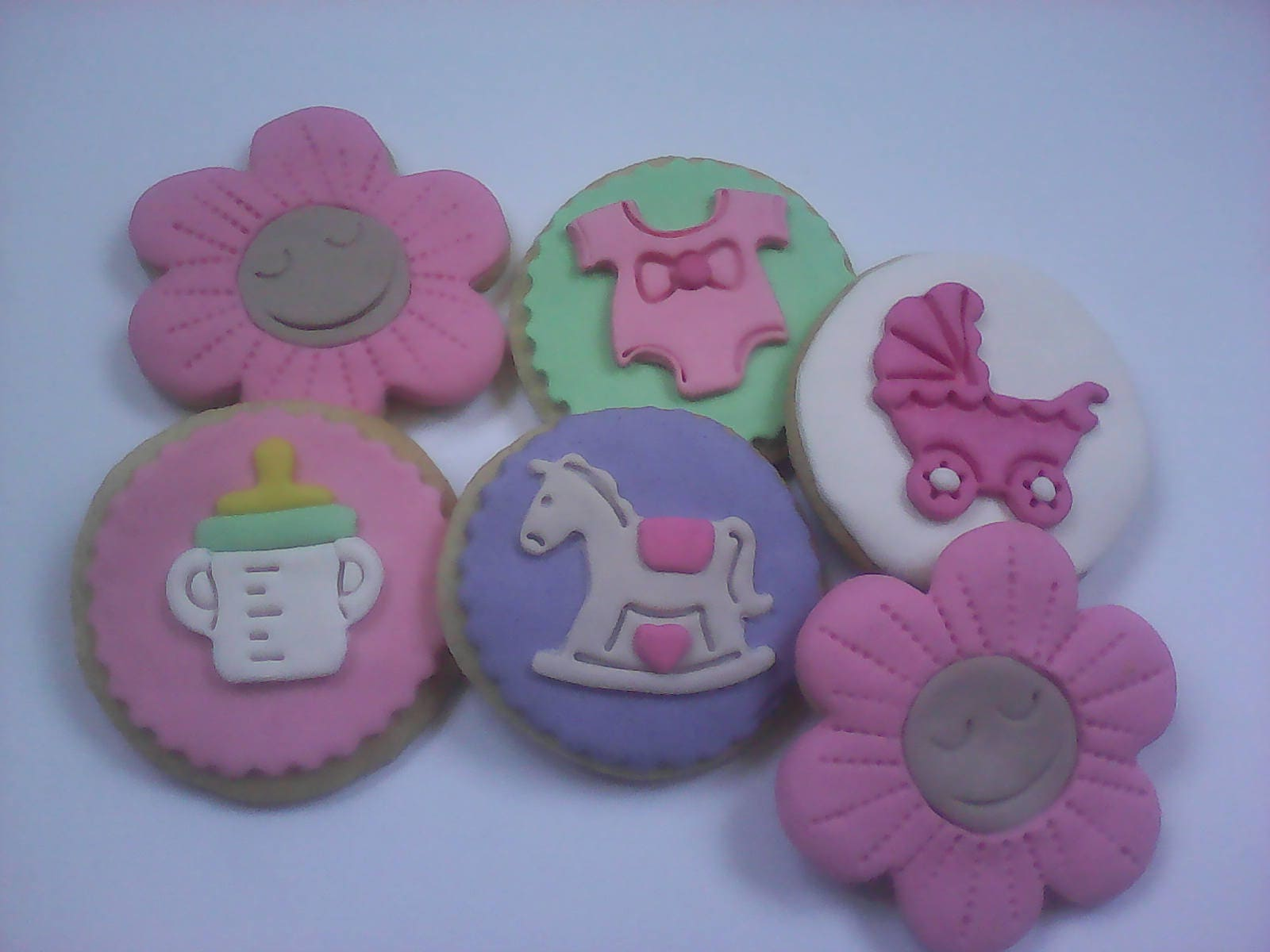 12 baby girl cookie assortment party favors baby shower favors