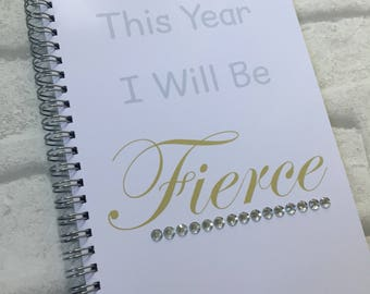 Slimming World Friendly - Food Planner Diary - Diet Tracker - Food Log - 8 Week / 12 Week Planner - This Year I Will Be Fierce with BLING