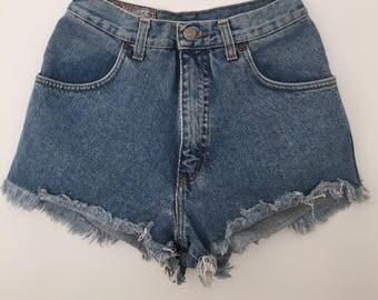 Rifle / vintage shorts / high waisted denim shorts / high waisted shorts / 90s shorts / 90s clothing / jean shorts / denim shorts