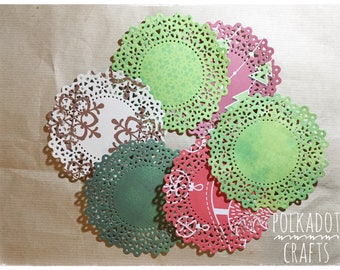 Doilies, Gifts Under 5, Junk Journal, Journaling, Mixed Media, Journal Ephemera, Art Journaling, Ephemera, Die Cuts, Embellishments,