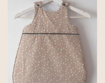 sleeping bag mixed beige with white stars